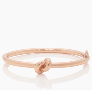 Kate Spade Knot Hinged Bangle Bracelet Rose gold